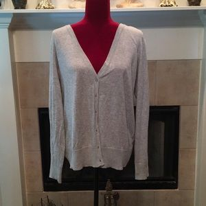 Faded Glory Gray Cardigan XXL